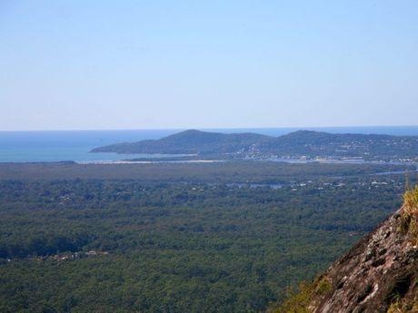 Looking toward Noosa from the top of Mt Tinbeerwah. Photo: Darryn Smith / Sunshine Coast Daily